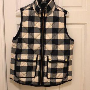 J.Crew plaid vest.  Worn once.